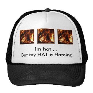 triple flame trucker hat