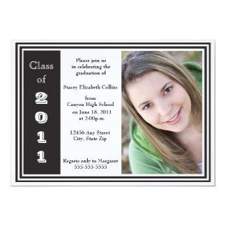 Triple Frame Graduation (black and white) Card