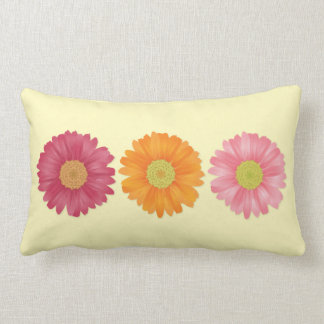 Triple Gerbera pillow