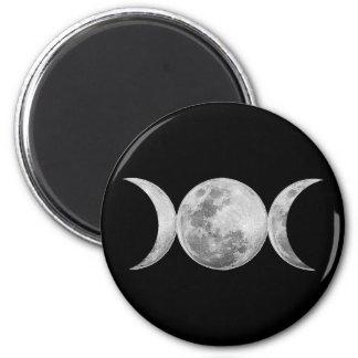 Triple Goddess 2 Inch Round Magnet