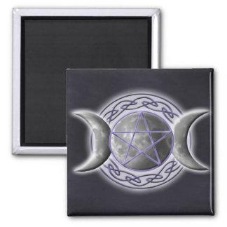 Triple Goddess 2 Inch Square Magnet