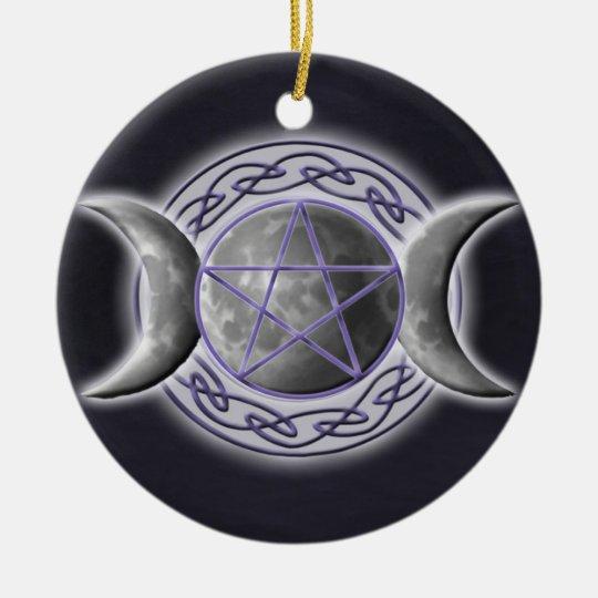 Triple Goddess Ceramic Ornament