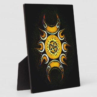 Triple Goddess Crowned - Dark Plaque