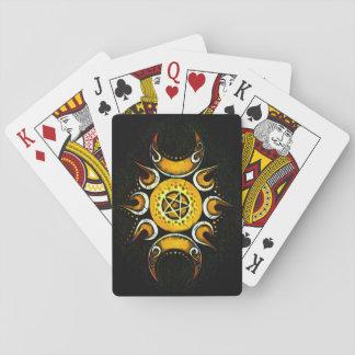 Triple Goddess Crowned - Dark Playing Cards