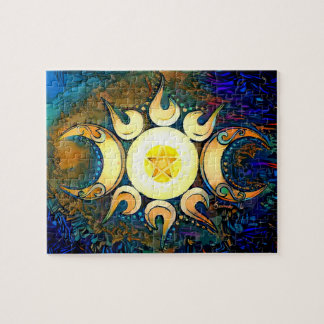 Triple Goddess Crowned Jigsaw Puzzle