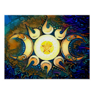 Triple Goddess Crowned Poster