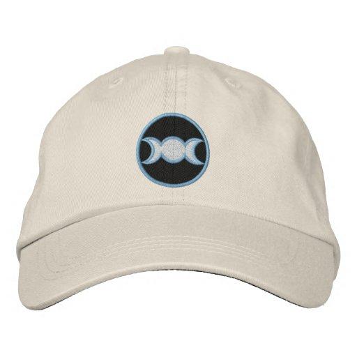 Triple Goddess Embroidered Hat