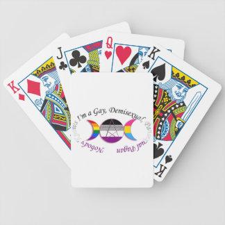 Triple Goddess Gay Demi Pansexual Pagan Pride Bicycle Playing Cards