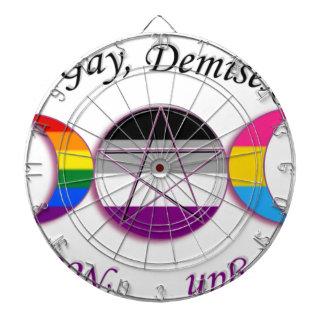 Triple Goddess Gay Demi Pansexual Pagan Pride Dart Board