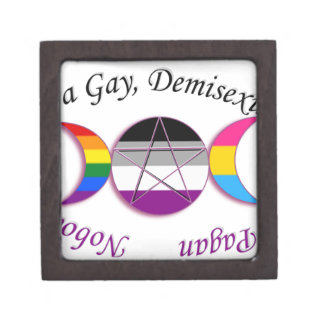 Triple Goddess Gay Demi Pansexual Pagan Pride Keepsake Box