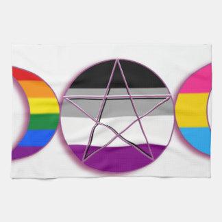 Triple Goddess Gay Demi Pansexual Pagan Pride Kitchen Towels