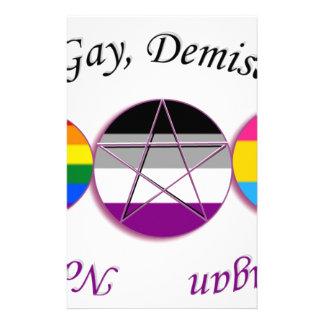 Triple Goddess Gay Demi Pansexual Pagan Pride Stationery