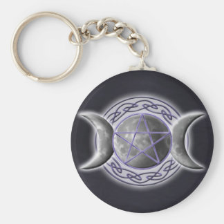 Triple Goddess Keychain