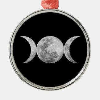 Triple Goddess Metal Ornament