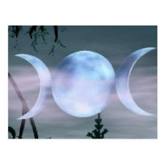 Triple Goddess Moon Postcard