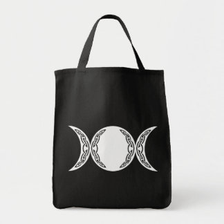 Triple Goddess Moon Symbol Grocery Tote Bag