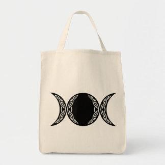 Triple Goddess Moon Symbol Canvas Bag