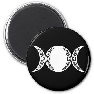 Triple Goddess Moon Symbol Magnet