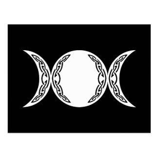 Triple Goddess Moon Symbol Postcard