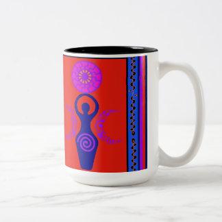 Triple Goddess Two-Tone Coffee Mug