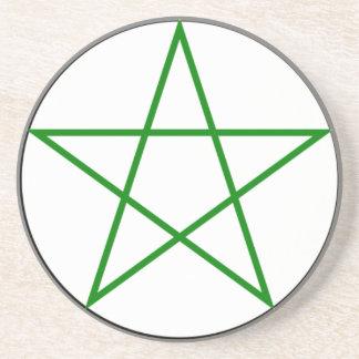 Triple-Goddess-Pentagram Coaster