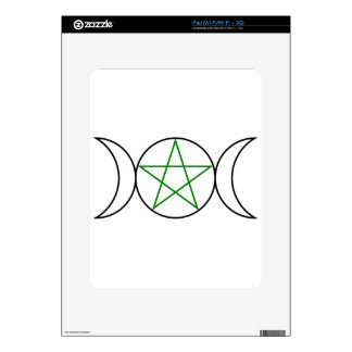 Triple-Goddess-Pentagram Decals For The iPad