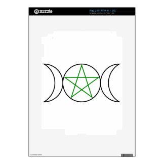 Triple-Goddess-Pentagram Skin For The iPad 2