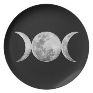 Triple Goddess Party Plate