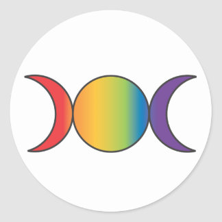 Triple Goddess (Rainbow) Classic Round Sticker