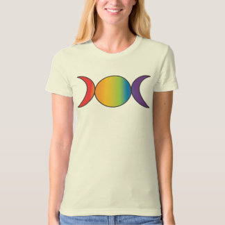 Triple Goddess (Rainbow Colors) T-Shirt