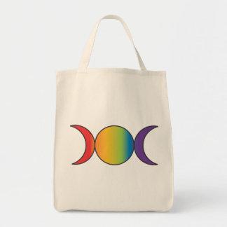 Triple Goddess (Rainbow) Tote Bag
