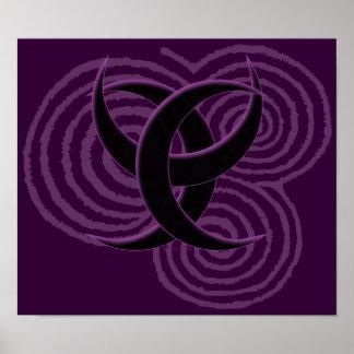 Triple Goddess Symbol Posters