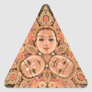 Triple Goddess Triangle Sticker
