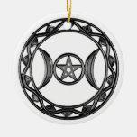 Triple Goddess with Pentagram Ornament