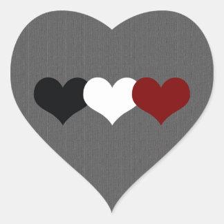 Triple Heart Heart Sticker