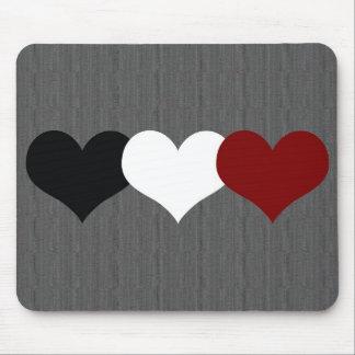 Triple Heart Mouse Pad