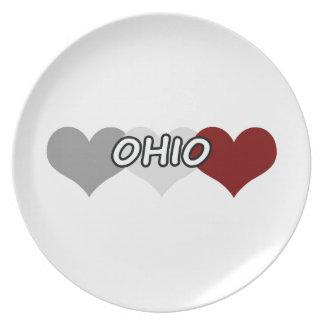 Triple Heart Ohio Dinner Plate