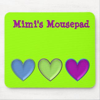 triple hearts Mousepad
