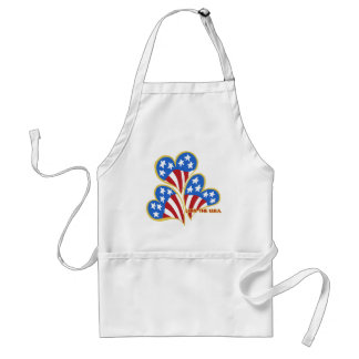 Triple Hearts USA Chef's apron