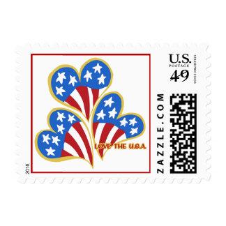 Triple Hearts USA Postage