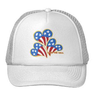Triple Hearts USA Trucker Hat