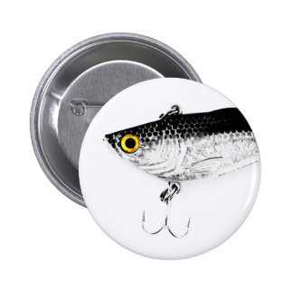Triple Hooks Minnow Fishing Lure Buttons