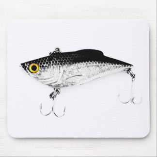 Triple Hooks Minnow Fishing Lure Mouse Pad