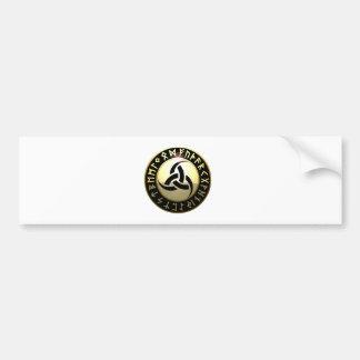 Triple Horn of Odin Bumper Sticker