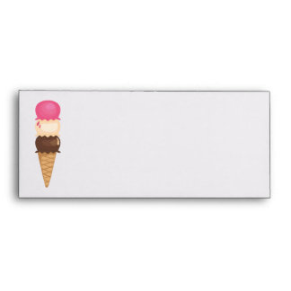Triple Ice Cream Cone Envelope