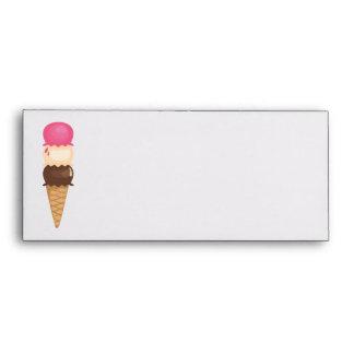 Triple Ice Cream Cone Envelope