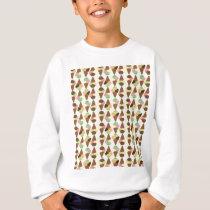 triple icecream pattern sweatshirt