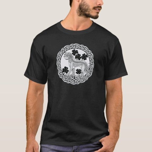 Triple Irish Wolfhound Shield T_Shirt