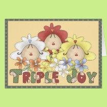 Triple Joy Triplets Card