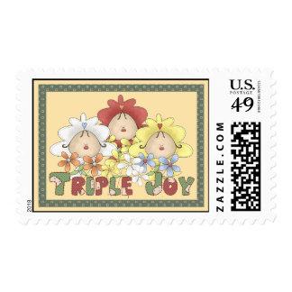 Triple Joy Triplets Postage